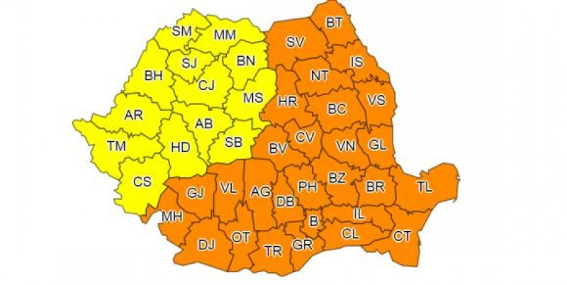 Județul Botoșani, sub Cod portocaliu de GER!