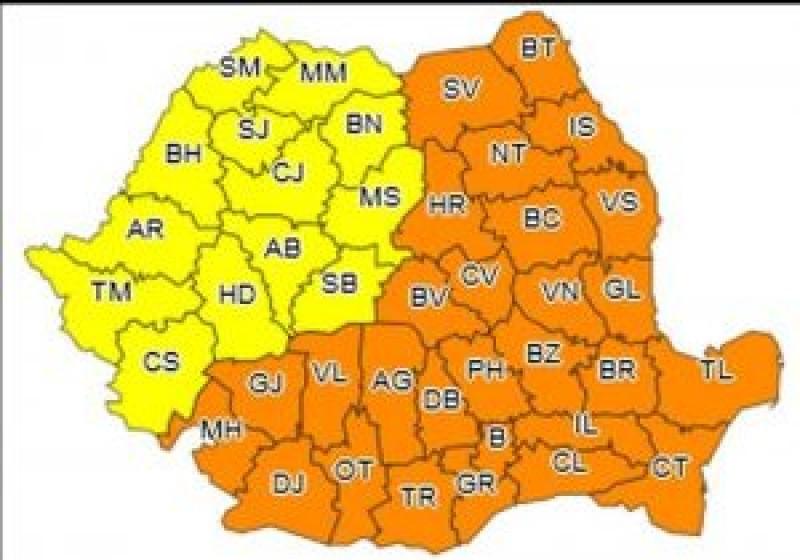Județul Botoșani, sub un nou Cod Portocaliu de ger năprasnic: Temperaturile vor coborî până la -25 de grade!