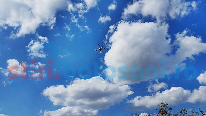Județul Botoșani survolat mai multe ore de un elicopter al MAI - FOTO