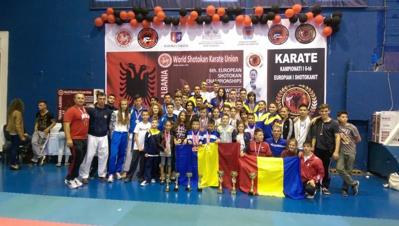 Karatistii botosaneni, care fac parte din lotul national al Romaniei, premiati la Campionatul European din Albania - FOTO