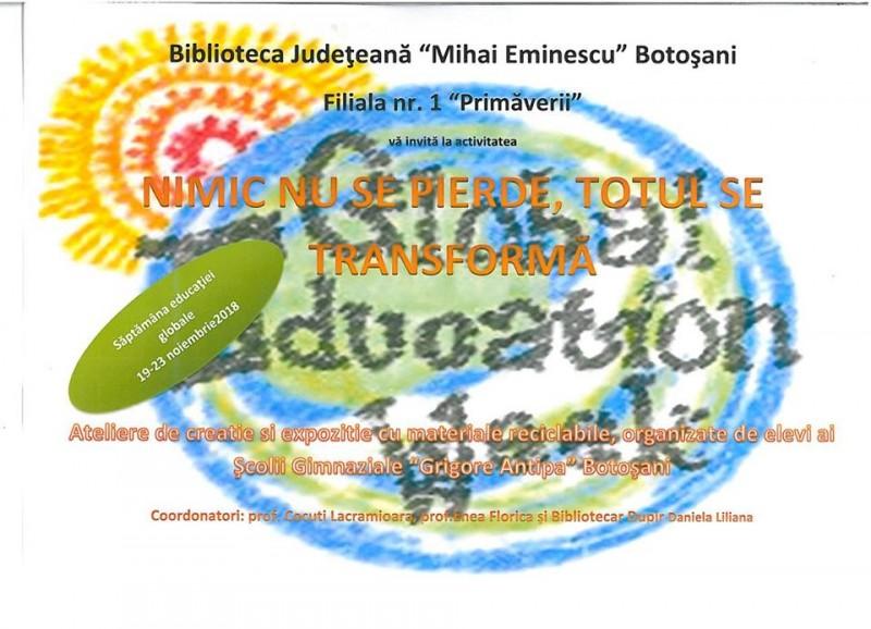 """La Biblioteca Judeţeană se """"reciclează creativ""""!"""