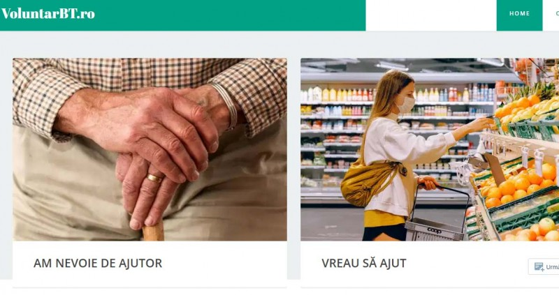 La Botoșani a fost lansată o platformă online care pune față în față voluntarii și persoanele vulnerabile care au nevoie de ajutor