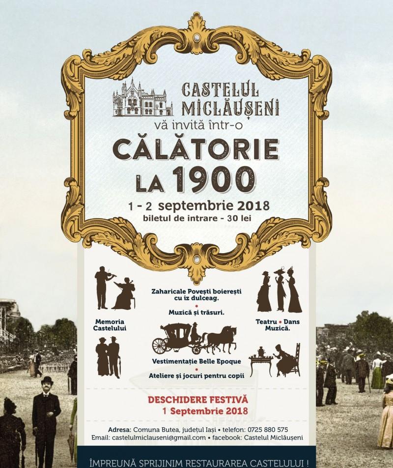 """La Castelul Miclăușeni ne întoarcem împreună în timp, într-o nouă """"Călătorie la 1900"""""""