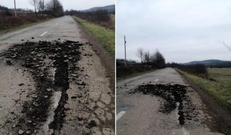 """La ce categorie să o punem? Un tractorist din Arad a arat un drum judeţean: """"L-a pregătit pentru semănat"""""""