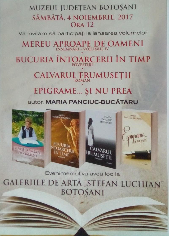 """Lansare de carte la Galeriile de Artă """"Ștefan Luchian"""" Botoșani"""