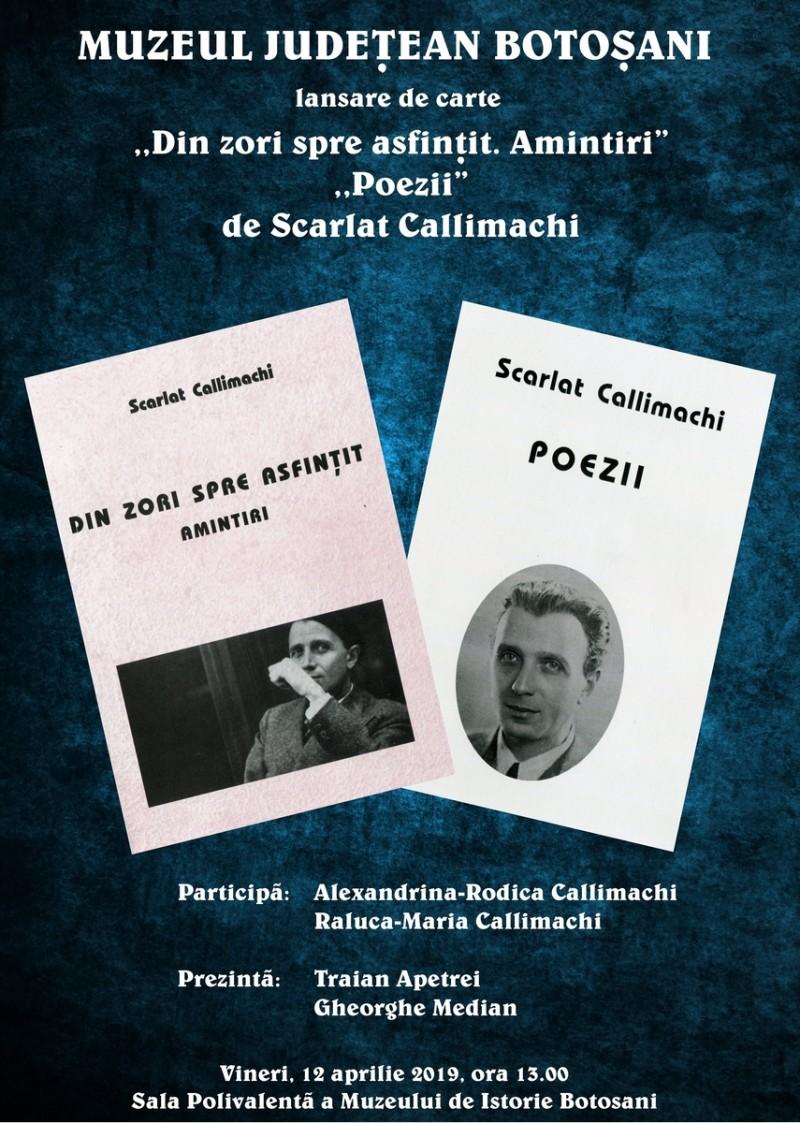 Lansare de carte la Muzeul Județean de Istorie Botoșani