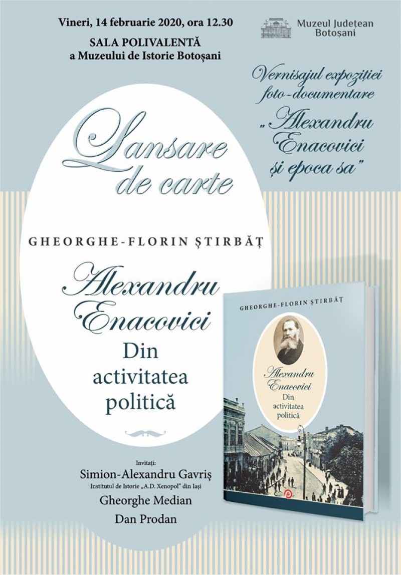 Lansare de carte și vernisaj expozițional, la Muzeul Județean
