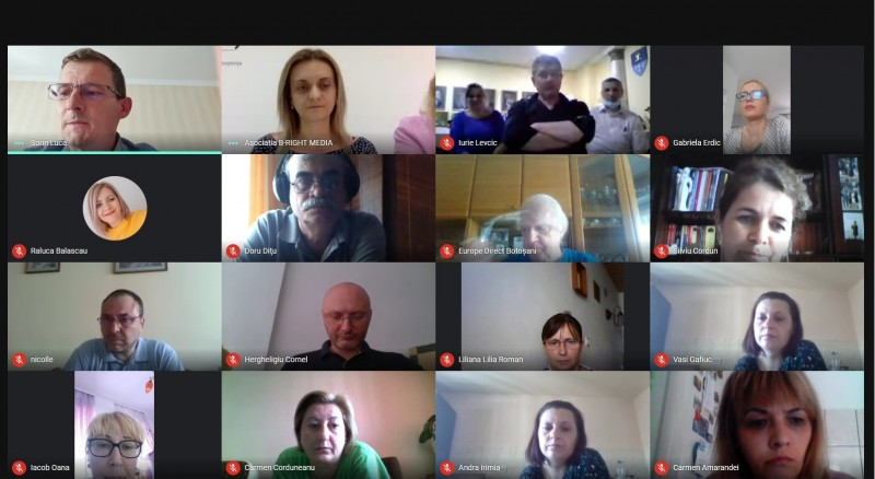 Lansare inedită a unui proiect european la Botoșani Zeci de persoane împreună pe Google Meet pentru un program tranfrontalier (foto)