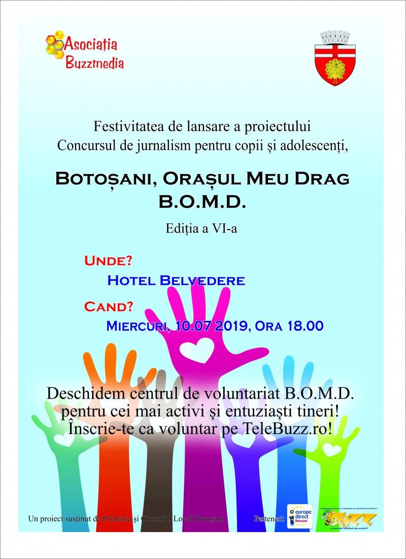 Lansare inedită, astăzi: un Centru de Voluntari botoșăneni, creat de adolescenți