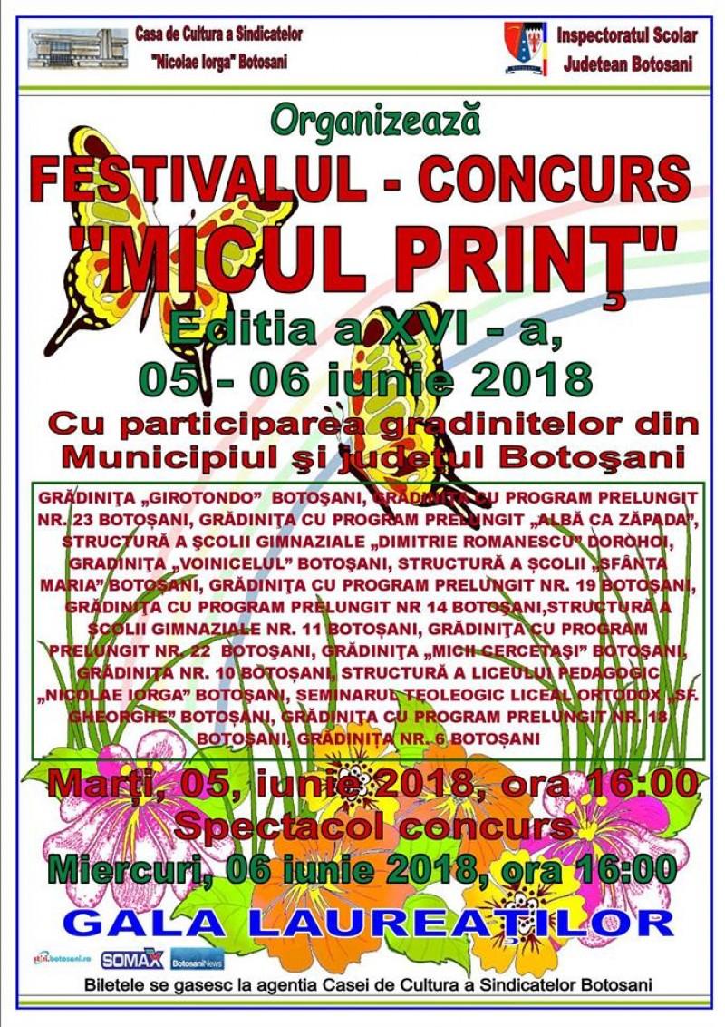 """Laureații Festivalului concurs """"Micul Prinț"""", ediția a XVI-a!"""