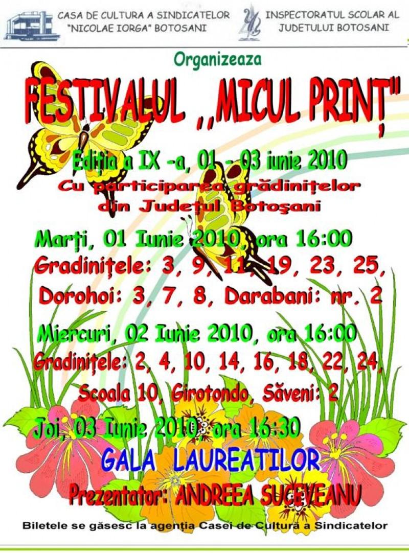 """Laureatii Festivalului """"Micul Print"""" 2010!"""