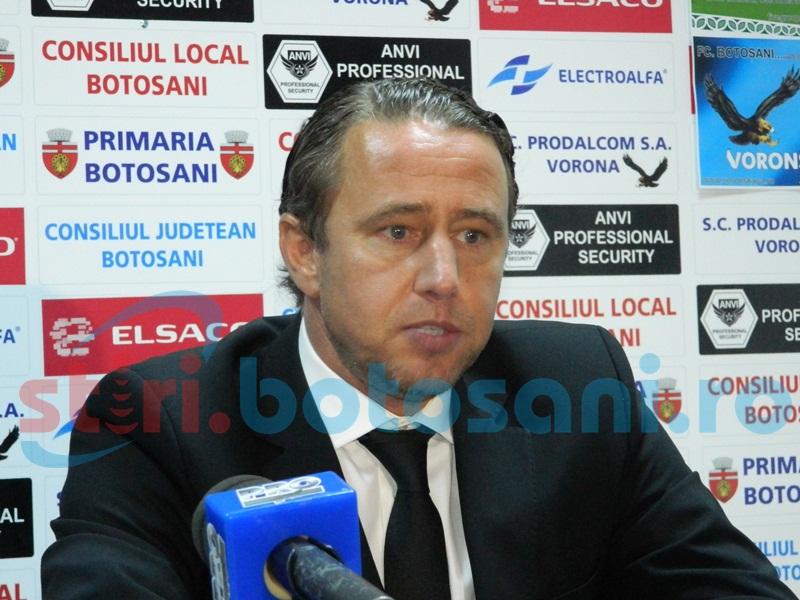 """Laurenţiu Reghecampf: """"Cred că în următoarea perioadă nu vor câştiga foarte multe echipe la Botoşani"""""""