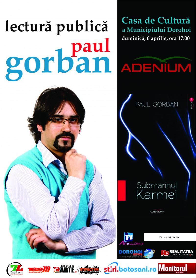 Lectura publică susţinută de poetul şi eseistul Paul Gorban, la Dorohoi