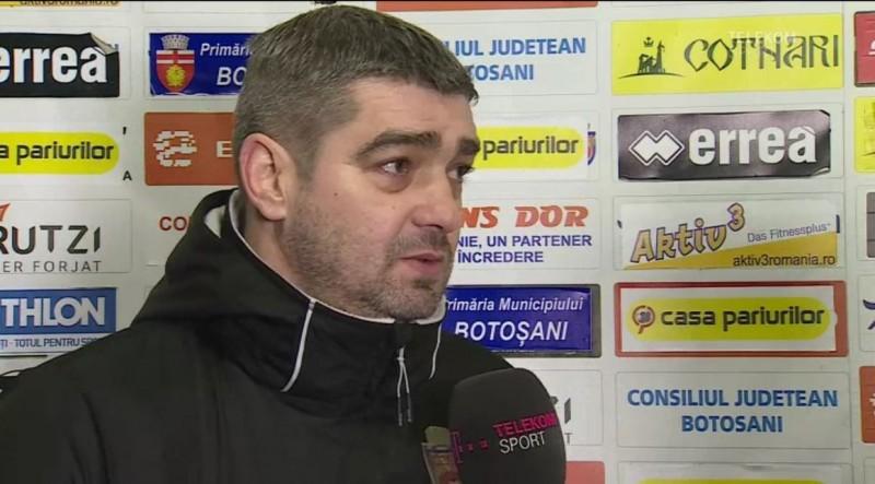 """Liviu Ciobotariu, nemulţumit după înfrângerea de la Voluntari: """"Este nepermis!"""" Ce l-a deranjat pe tehnicianul de la Botoşani"""