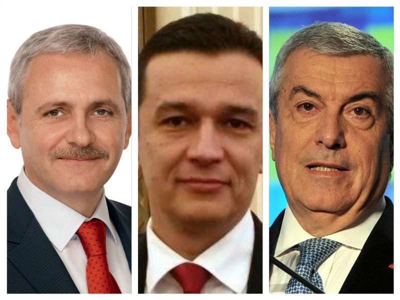 Liviu Dragnea si Calin Popescu Tariceanu fac declaratii, dupa o sedinta a coalitiei de guvernare