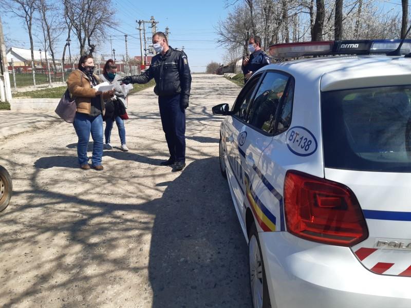 Localități limitrofe municipiului Botoșani, luate cu asalt de polițiști. ZERO sancțiuni împărțite
