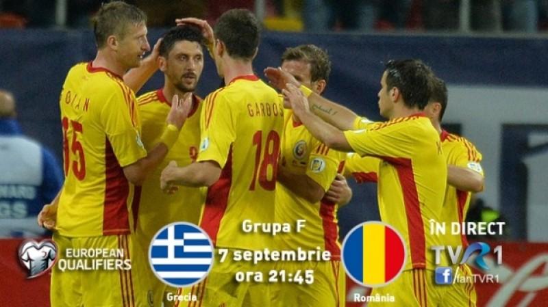 Lotul României pentru partida cu Grecia din preliminariile EURO 2016