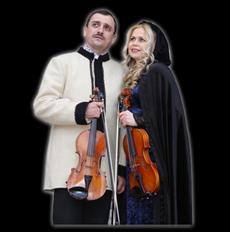 LUCIA şi OLEG SACALIUC - Două viori, dublă cetăţenie, o singură muzică! FOTO, VIDEO