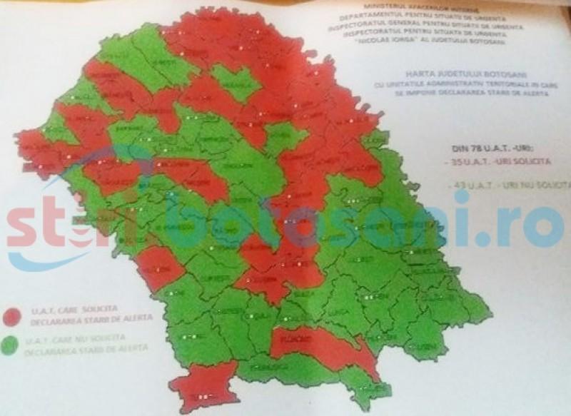 MAI a aprobat STAREA DE ALERTĂ în județul Botoșani, din cauza secetei! Vezi ce se întâmplă!