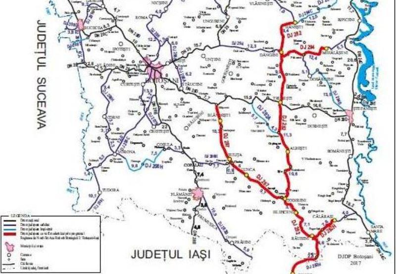 Mâine încep lucrările și pe Lotul 2 al Drumului Strategic de la Botoșani