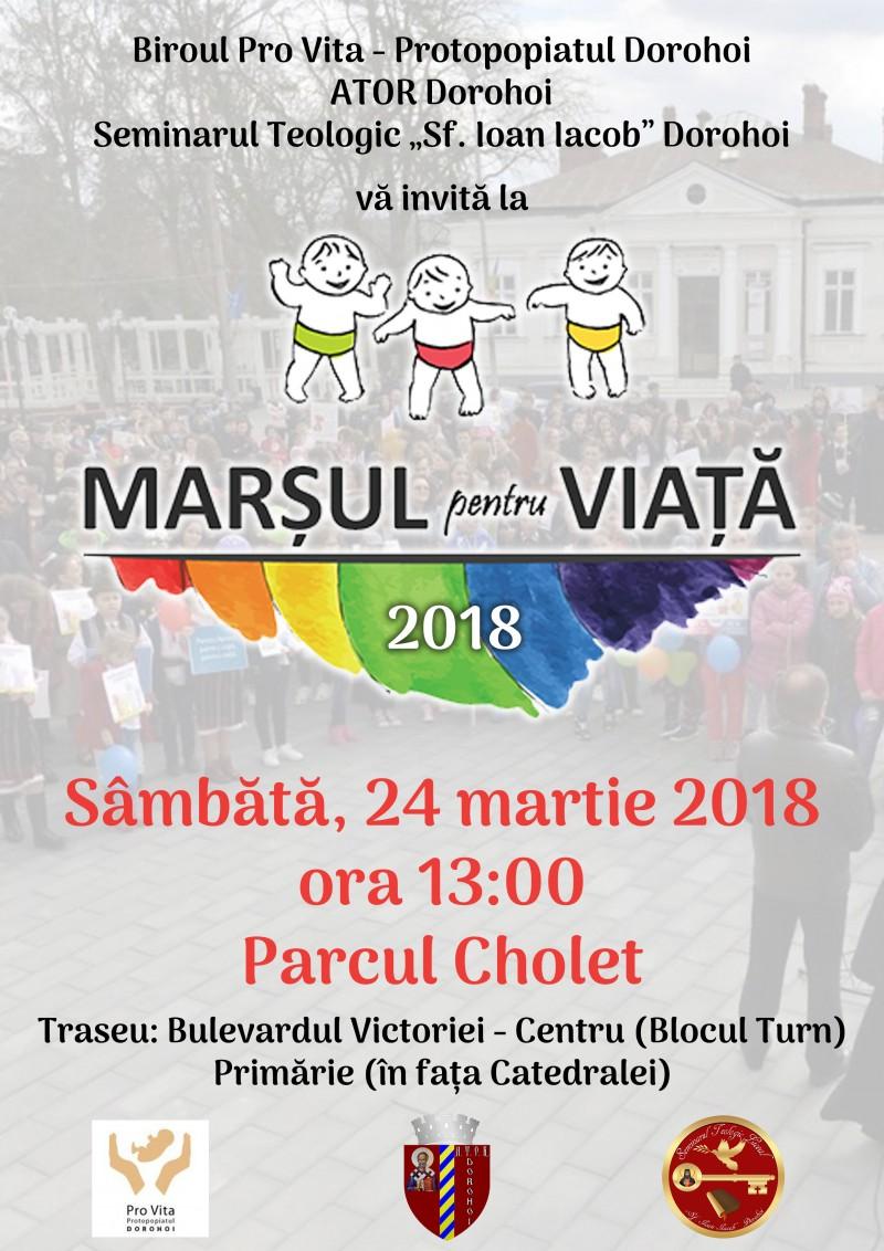 Manifestații pentru viață în municipiul Dorohoi! FOTO
