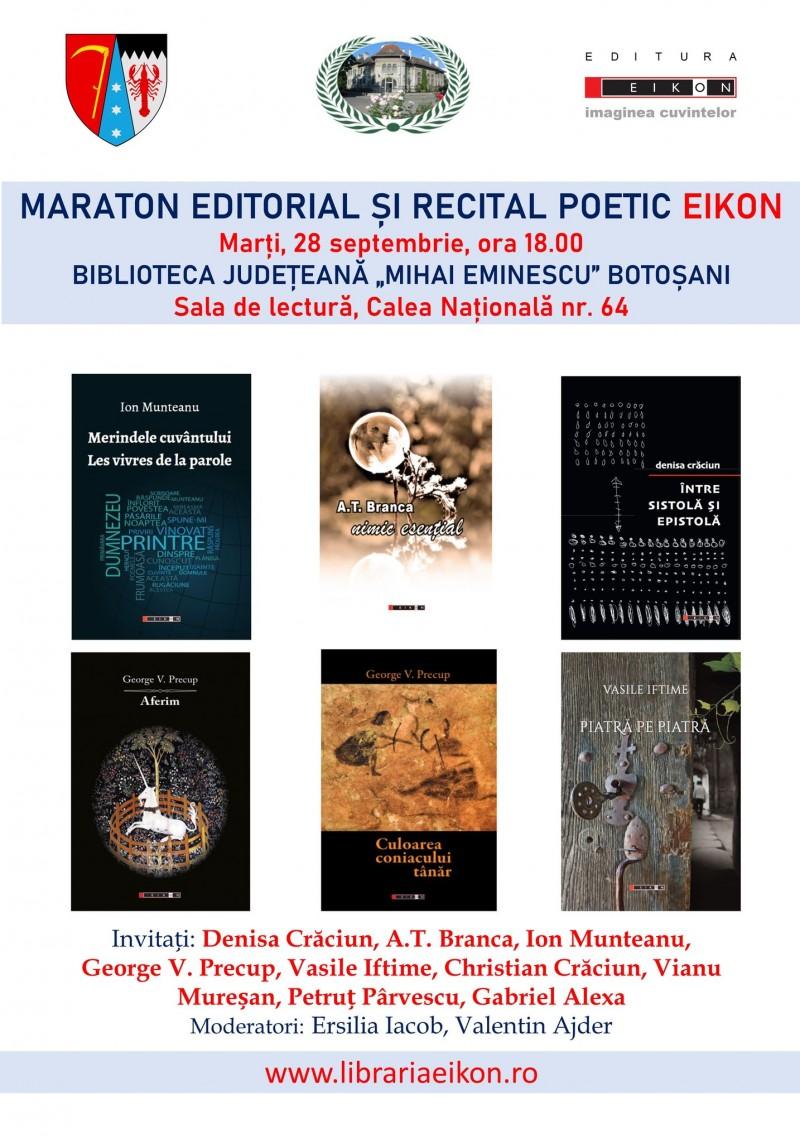 Maraton editorial Eikon la Biblioteca Județeană Botoșani
