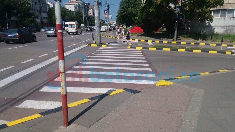 Marcaje rutiere trasate pe străzile din Botoşani şi pe timpul nopţii