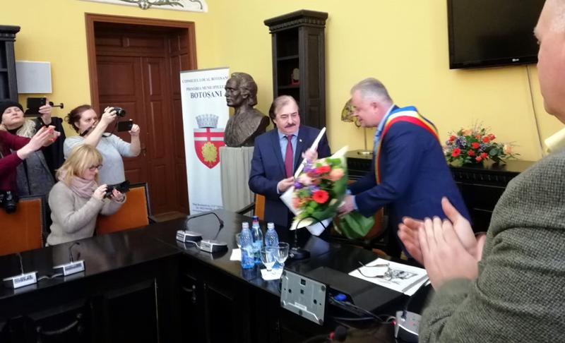 Marele artist Nicolae Botgros a devenit cetățean de onoare al municipiului Botoșani - VIDEO