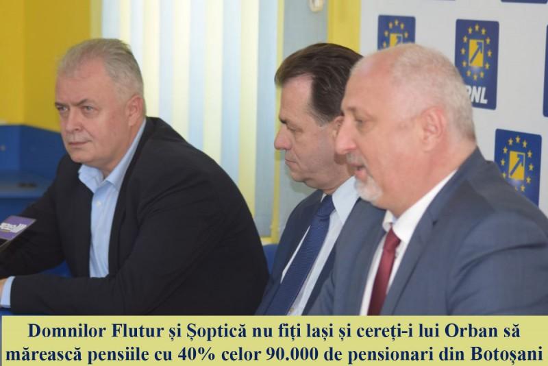 """Marius Budăi: """"Domnilor Flutur și Șoptică, nu fiți lași și cereți-i lui Orban să mărească pensiile cu 40% celor 90.000 de pensionari din Botoșani"""""""