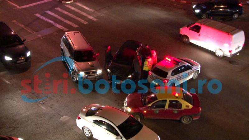 Mașină indisponibilizată de polițiști în urma unui accident rutier