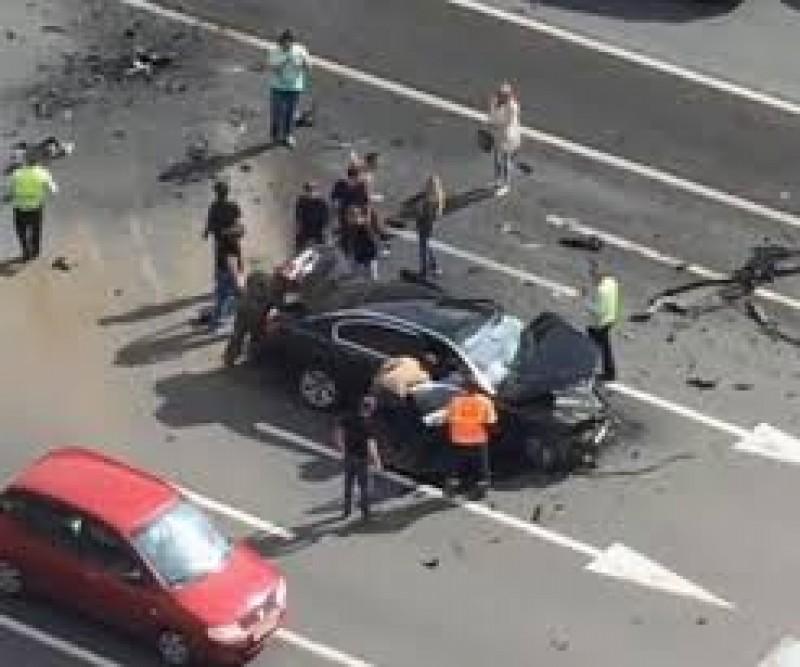 Mașina lui Putin, implicată într-un accident teribil. Șoferul său, mort pe loc