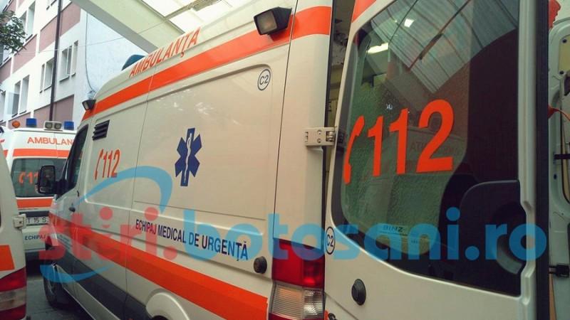 Mașină răsturnată în șanț: Două persoane rănite!