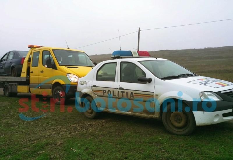 Maşină răsturnată la Griviţa! O bătrână rănită în accident