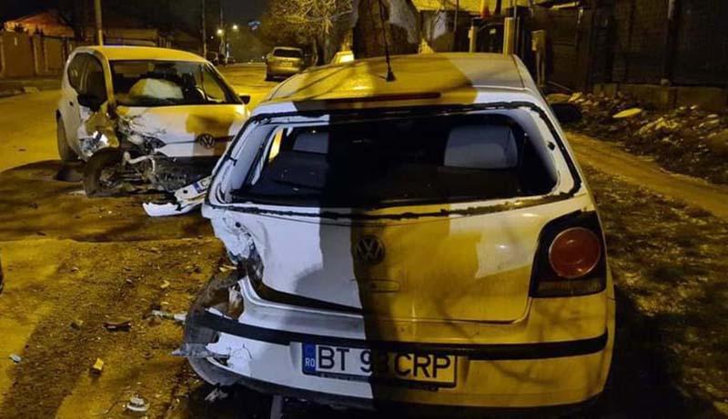 Mașina unui botoșănean, distrusă complet la Iași