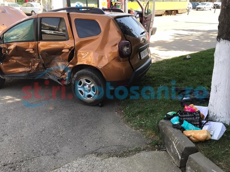 Mașini avariate din vina unui șofer euforic