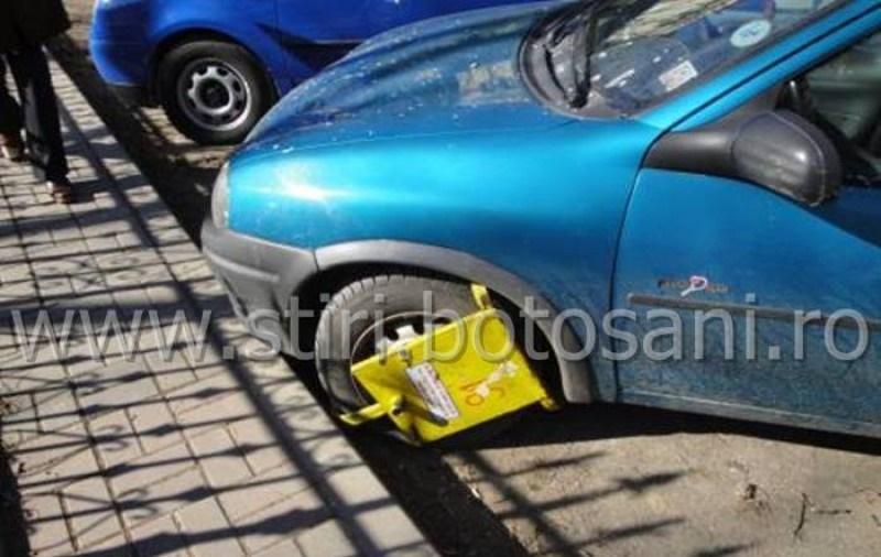 Mașinile parcate neregulamentar vor fi din nou blocate și ridicate în municipiul Botoșani! Vezi de când!