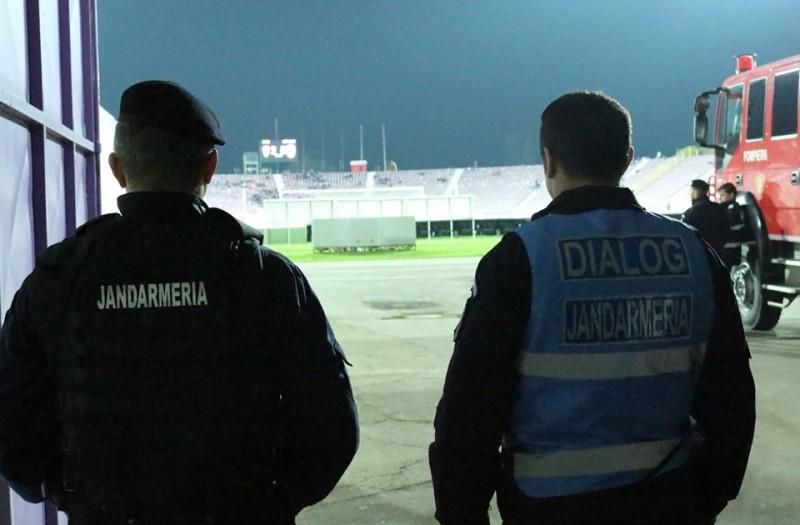 Măsuri luate de jandarmi, pentru desfășurarea în siguranță a meciului de rugby România-Spania, pe Stadionul Municipal