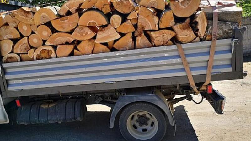 Material lemnos confiscat de polițiști de la un sucevean la Mihăileni