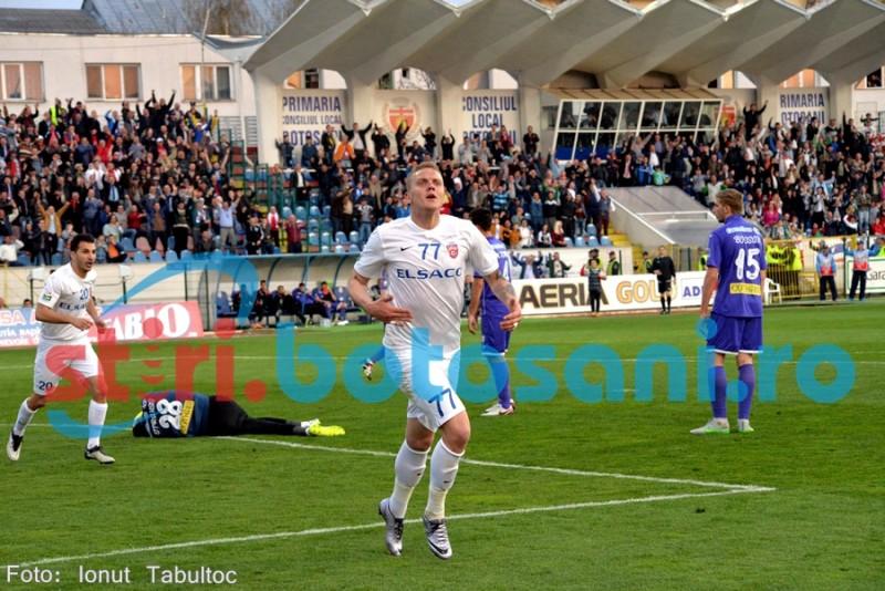 "Matulevicius a spart gheata la Botosani si a marcat doua goluri: ""Suntem foarte fericiti"""