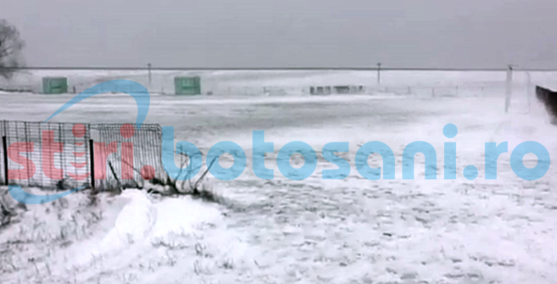 Meci de Liga 4, din Botosani, amanat din cauza zapezii si a viscolului! FOTO, VIDEO