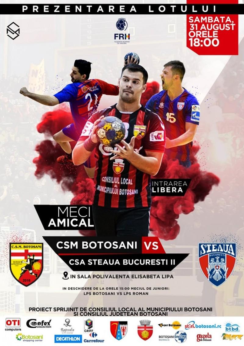 Meciul zilei: CSM Botoșani - CSA Steaua București!