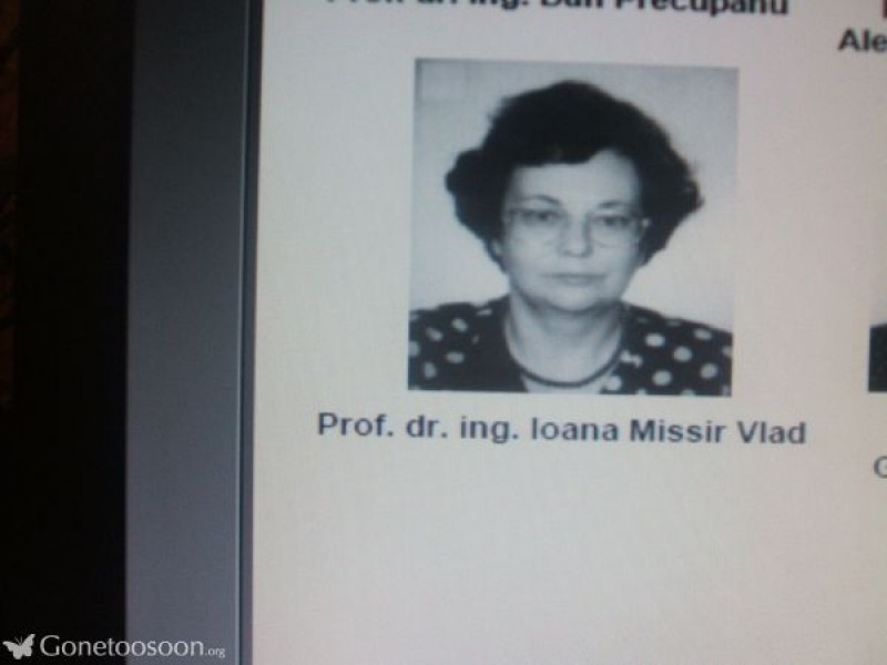 Memoria zilei: Ioana Missir, destinul unei generații!