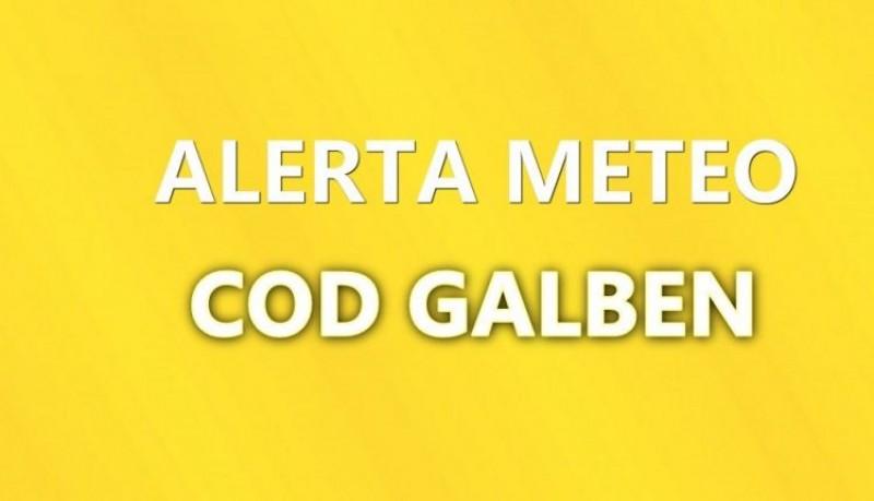 METEO: Cod Galben de ploi și vijelii pentru mai multe localități din județul Botoșani!