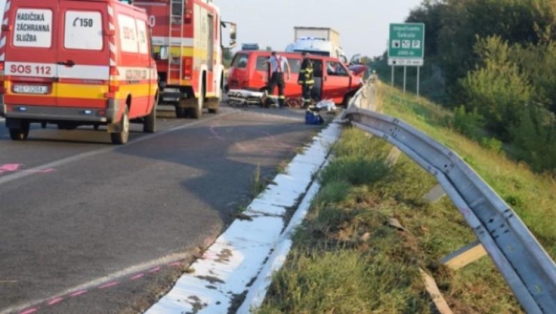 Microbuz cu români, accident grav pe o autostradă din Slovacia