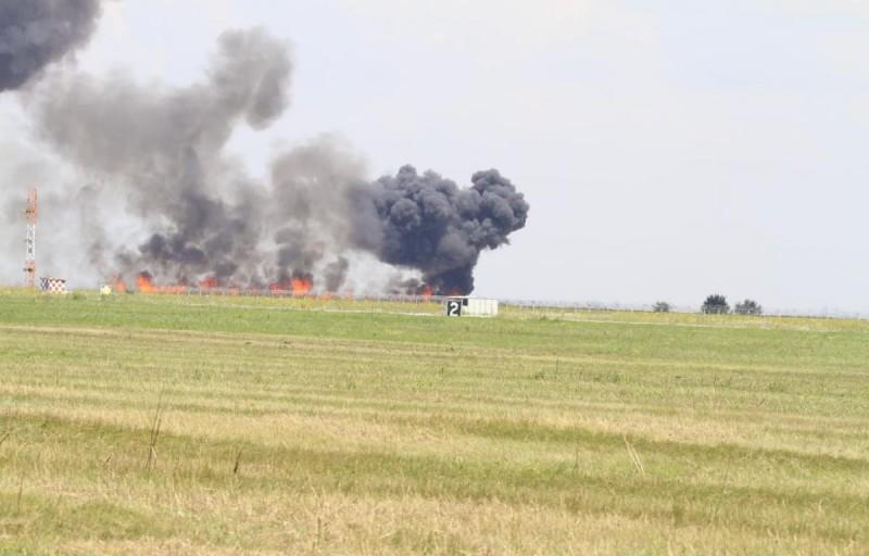 MIG prăbușit în timpul unei demonstrații aviatice, în România! FOTO