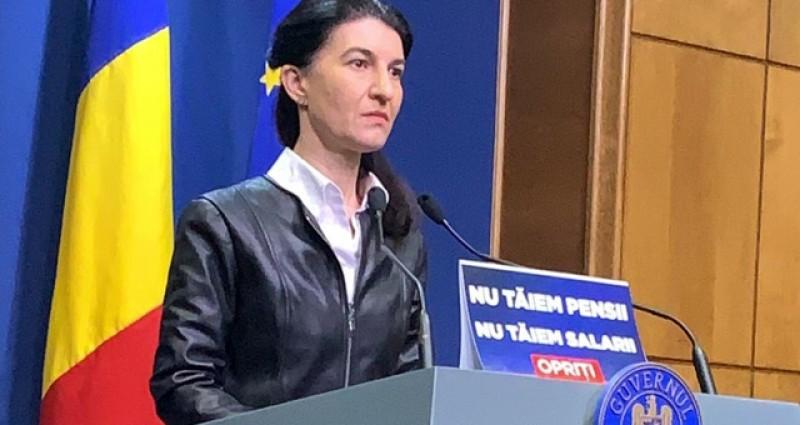 Ministrul Muncii, Violetă Alexandru: Nu tăiam pensii! Nu tăiem salarii!