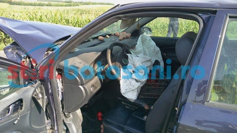 Mire băgat în spital de un şofer inconştient! FOTO