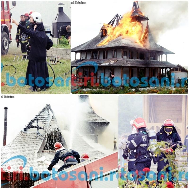 MISIUNE DIFICILA! Peste 50 de pompieri au luptat trei ore cu flacarile la Schitul Lebada! Vezi IMAGINI FOTO si VIDEO din timpul interventiei!