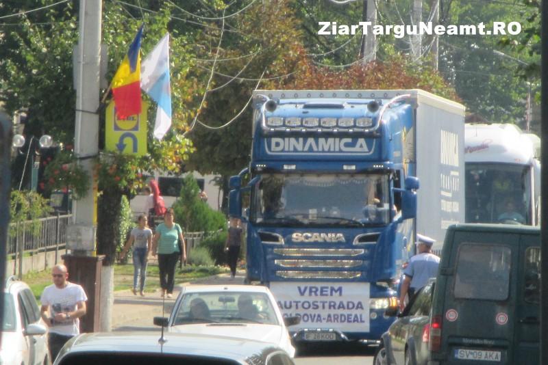 MOLDOVA VREA AUTOSTRADĂ - Zeci de camioane și motociclete la marșul la care au participat și botoșăneni! VIDEO