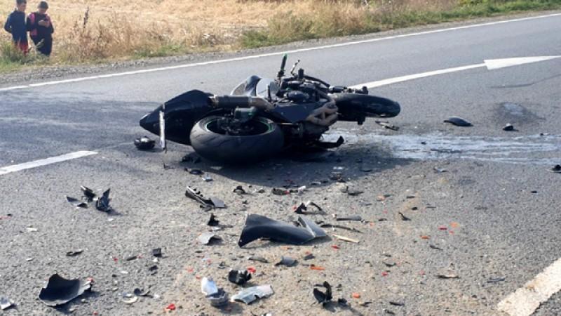 Motociclist accidentat la Brehuiești, pe drumul Botoșani - Suceava
